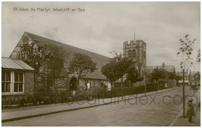 Postcard front: St. Alban the Martyr, Westcliffe-on-Sea