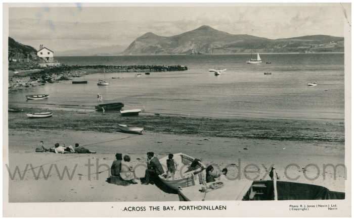 Postcard front: Across the Bay, Porthdinllaen