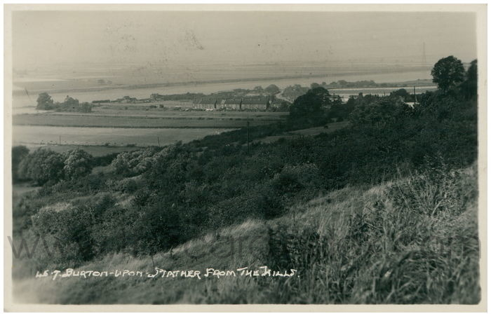 Postcard front: Burton-Upon-Strather from the Hills.