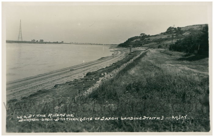 Postcard front: By The Riverside Burton-Upon-Stather (site of Saxon Landing Staith)