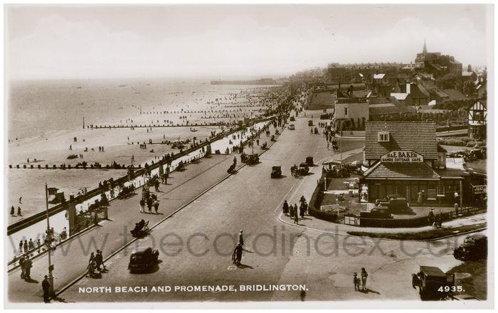 Postcard front: North Beach and Promenade, Bridlington
