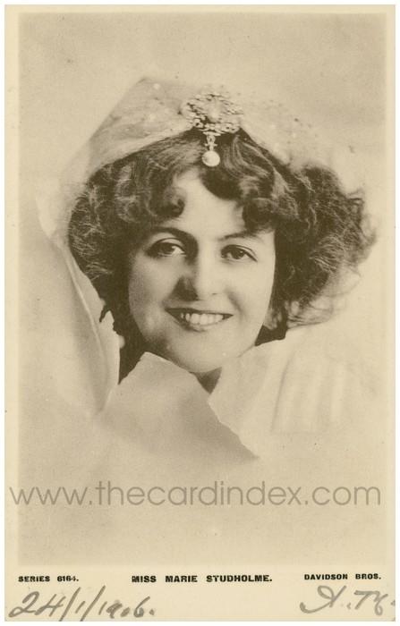 Postcard front: Miss Marie Studholme.
