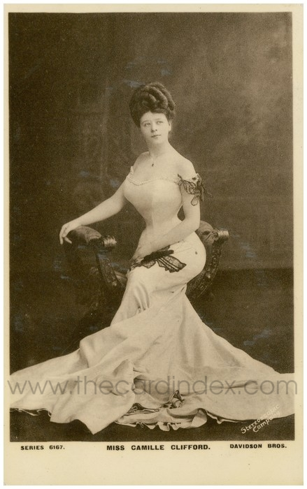 Postcard front: Miss Camille Clifford