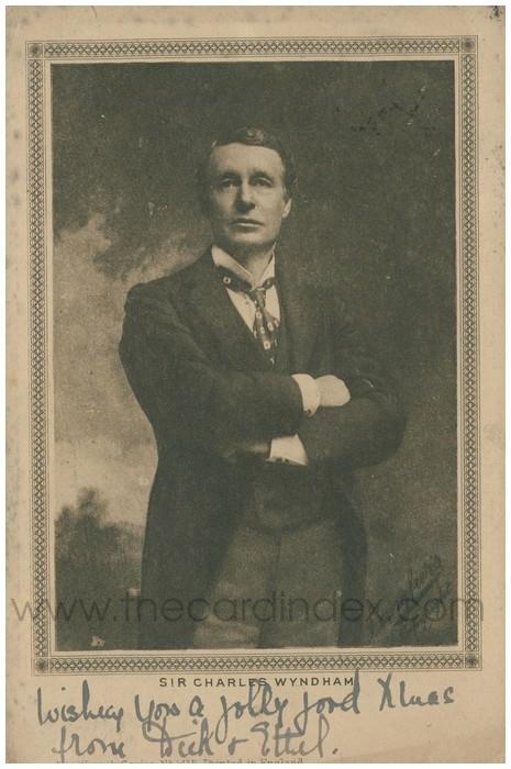 Postcard front: Sir Charles Wyndham