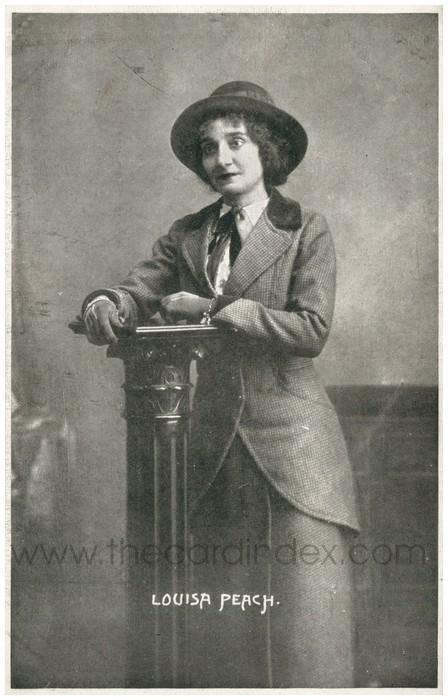 Postcard front: Louisa Peach