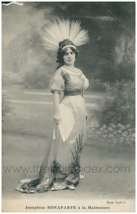 Postcard front: Josephine Boneparte a la Malmaison