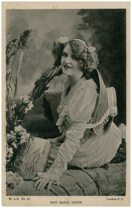 Postcard front: Miss Mabel Green
