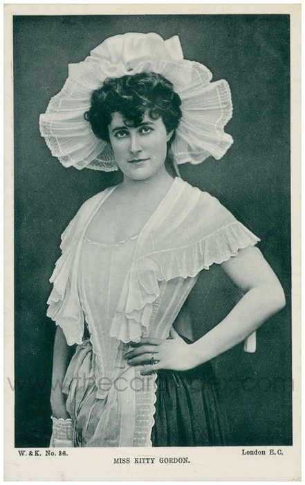 Postcard front: Miss Kitty Gordon