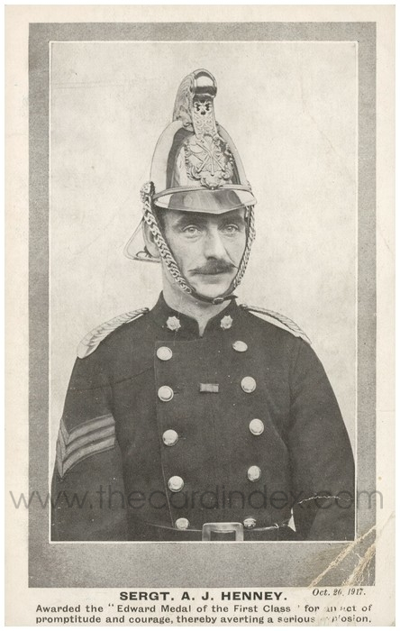 Postcard front: Sergt. A. J. Henney: Awarded the