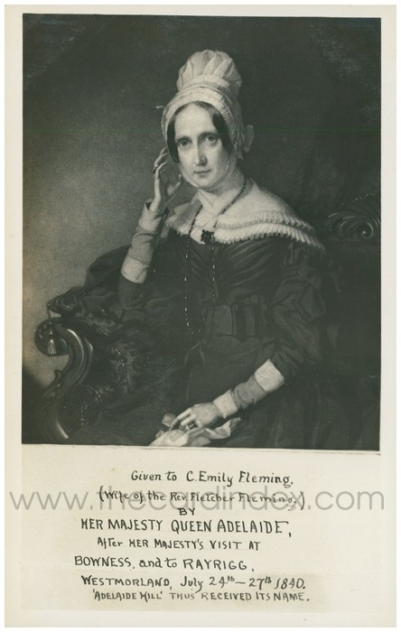 Postcard front: Given to C. Emily Fleming (Wife of the Rev. Fletcher Fleming.)