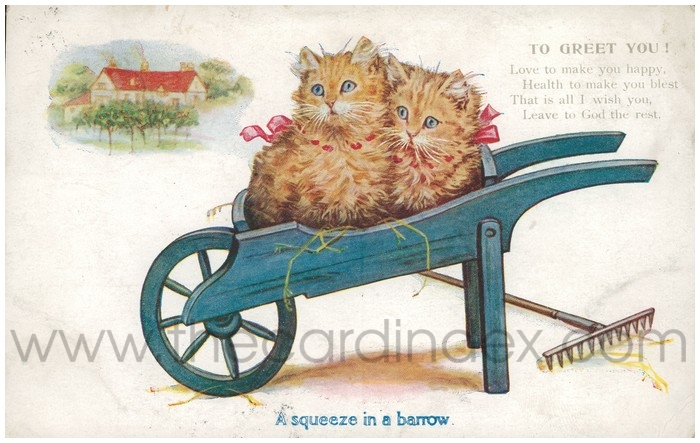 Postcard front: A Squeeze in a Barrow