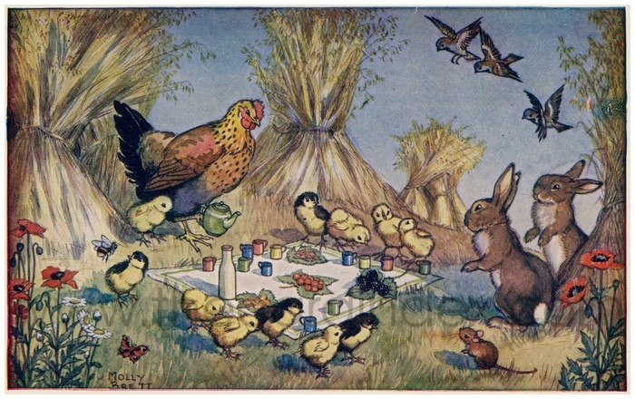 Postcard front: Harvest Picnic