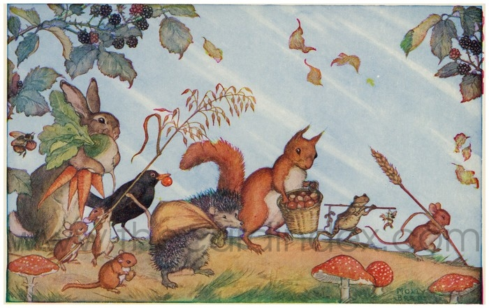 Postcard front: Harvest Time