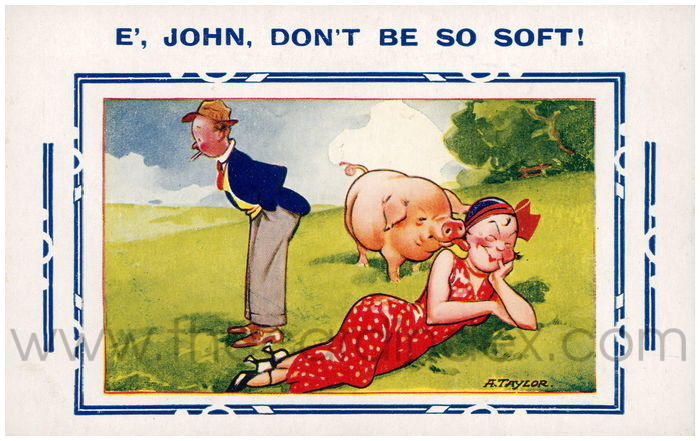 Postcard front: E' John, Don't be so soft