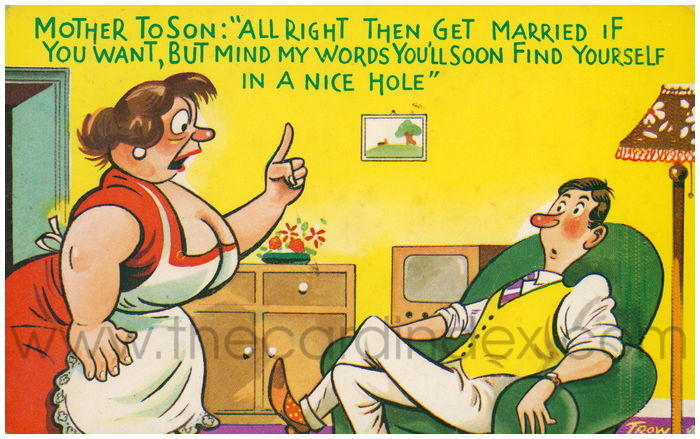 Postcard front: Mother to Son: