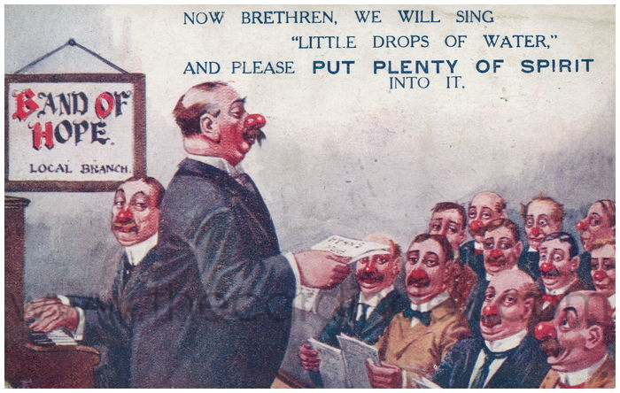 Postcard front: Now Brethren, we will sing