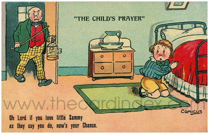 Postcard front: The Child's Prayer