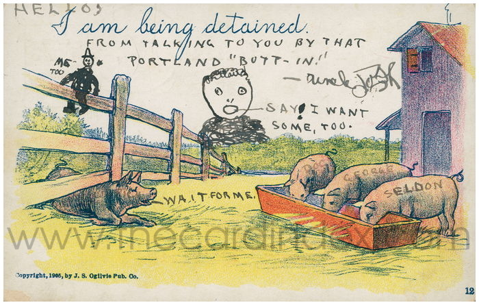 Postcard front: I am being detained.