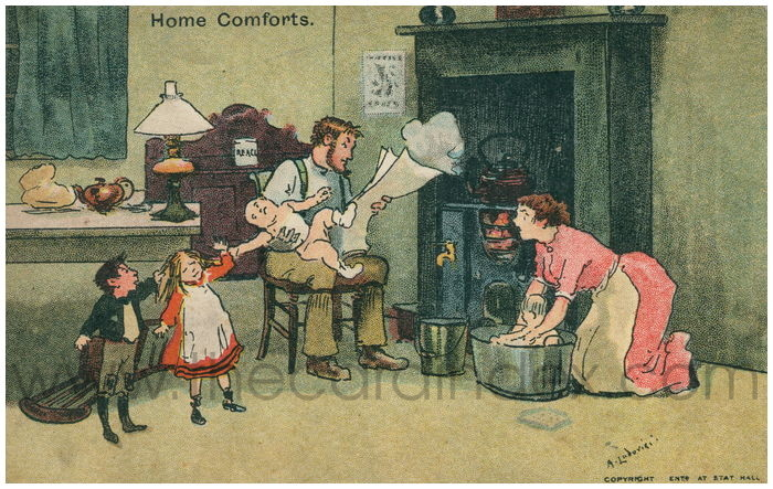 Postcard front: Home Comforts