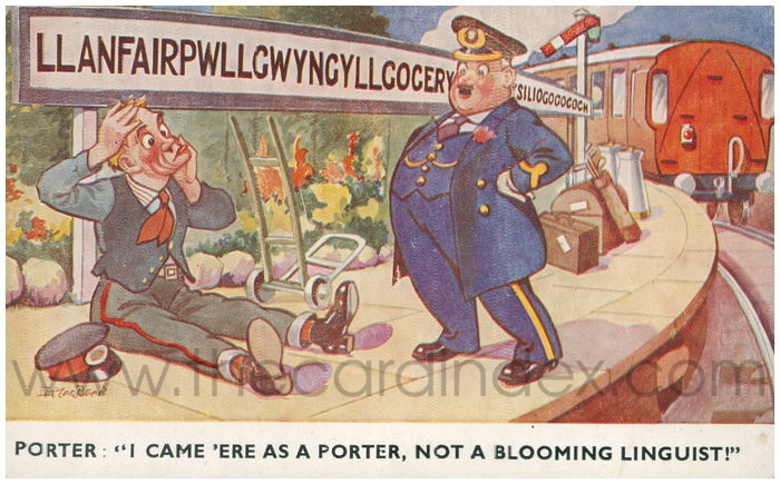 Postcard front: Porter: