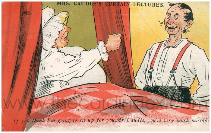 Postcard front: Mrs Caudle's Curtain Lectures