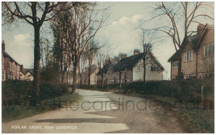 Postcard front: Poplar Grove, New Earswick
