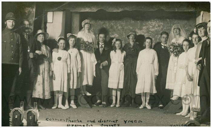 Postcard front: Copmanthorpe and district YMCA dramatic society