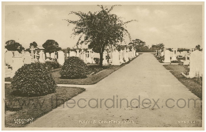 Postcard front: Fulford Cemetery York