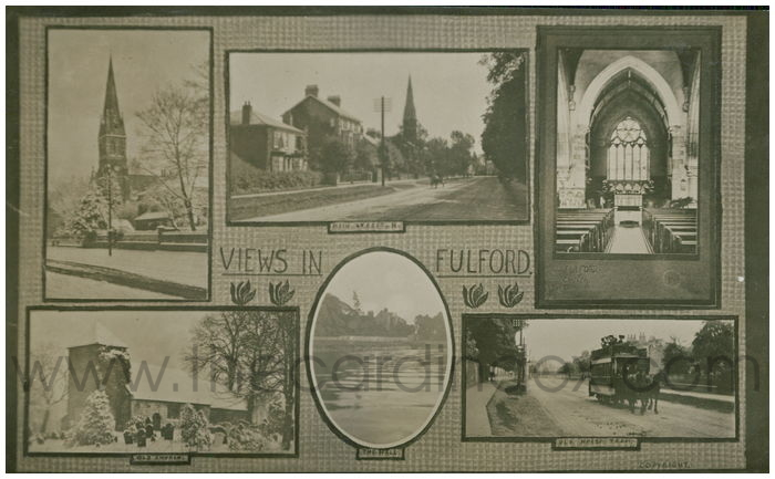 Postcard front: Views in Fulford