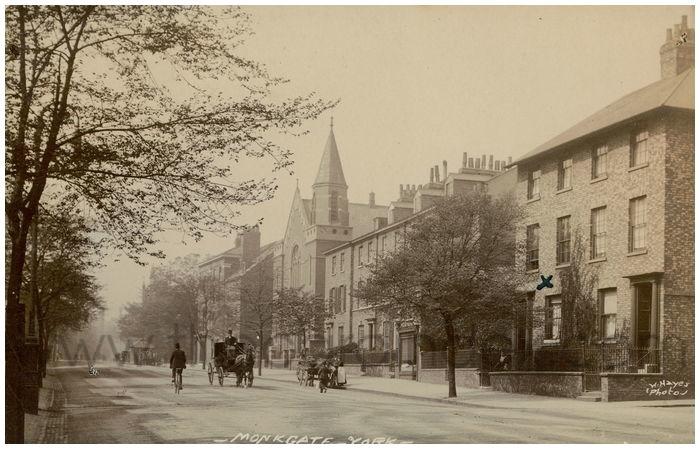 Postcard front: Monkgate - York