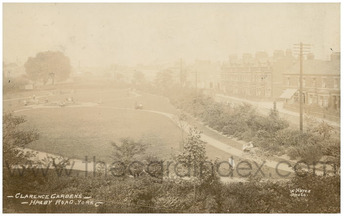 Postcard front: Clarence Gardens, Haxby Road, York