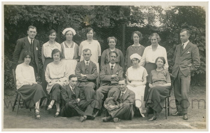 Postcard front: Haxby Road School Staff
