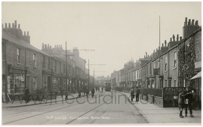 Postcard front: Clarence Road. York