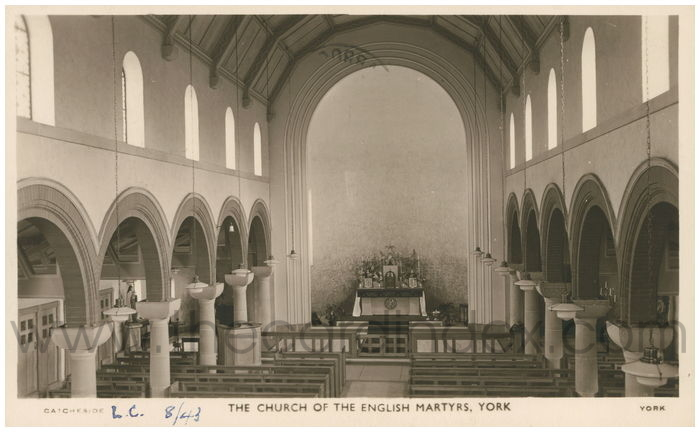 Postcard front: The Church of the English Martyrs, York