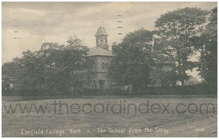 Postcard front: Elmfield College, York - The School from the Stray