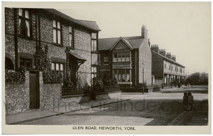 Postcard front: Glen Road, Heworth, York