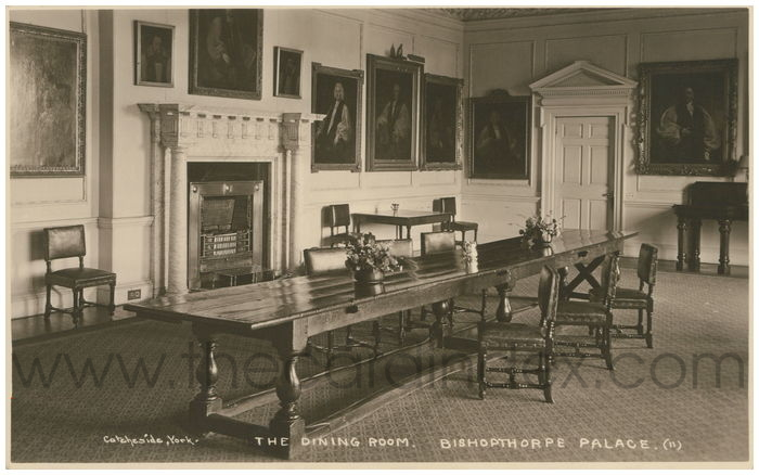 Postcard front: The Dining Room, Bishopthorpe Palace