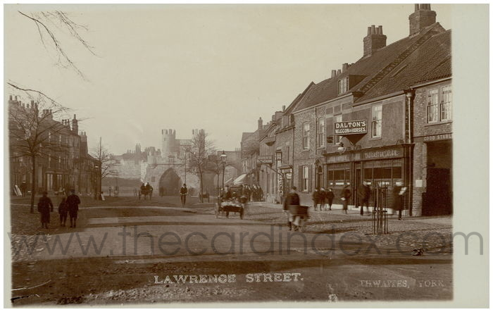 Postcard front: Lawrence Street