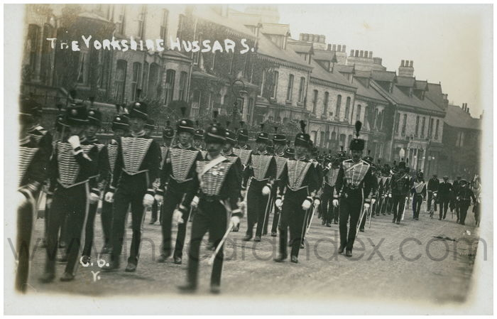 Postcard front: The Yorkshire Hussars