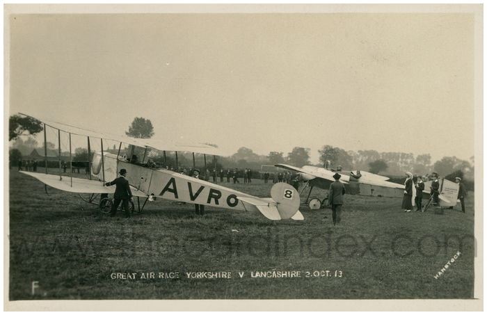 Postcard front: Great Air Race Yorkshire v Lancashire 2 Oct 13