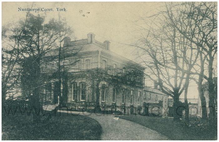 Postcard front: Nunthorpe Court, York