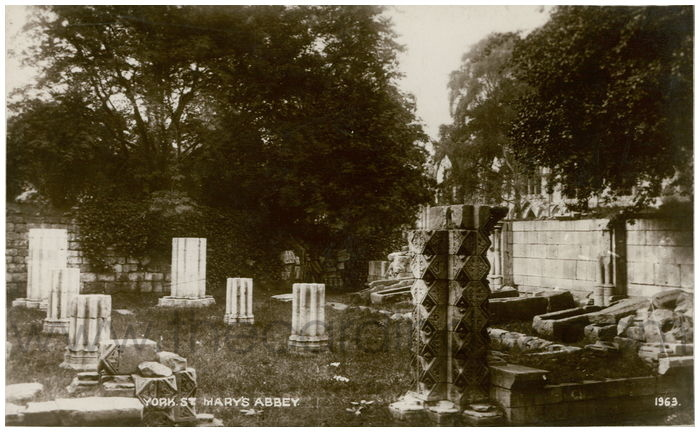 Postcard front: York. St. Mary's Abbey