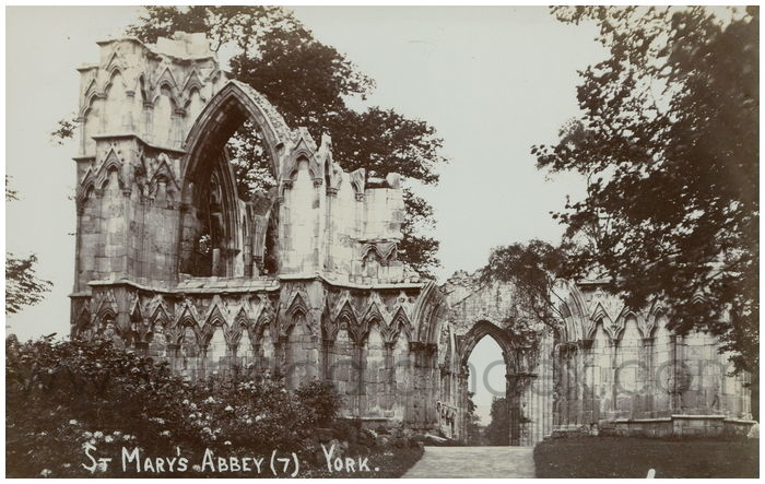Postcard front: St. Mary's Abbey (7) York
