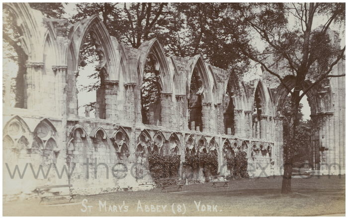 Postcard front: St. Mary's Abbey (8) York.