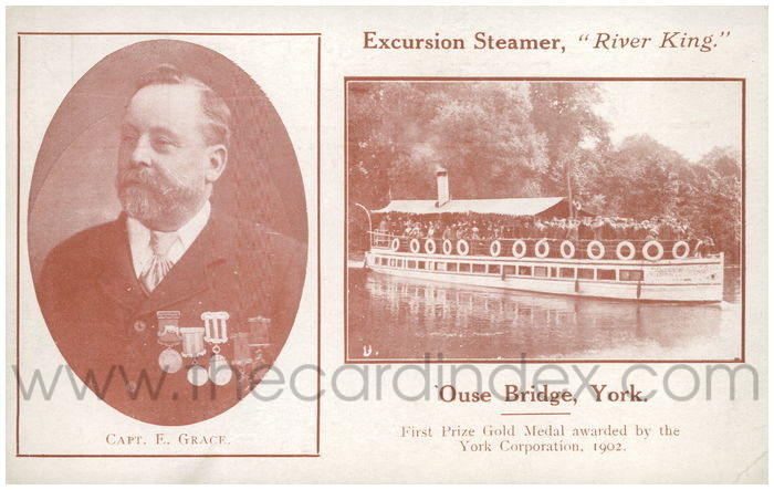 Postcard front: Excursion Steamer,
