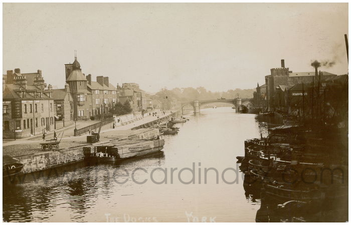 Postcard front: The Docks York