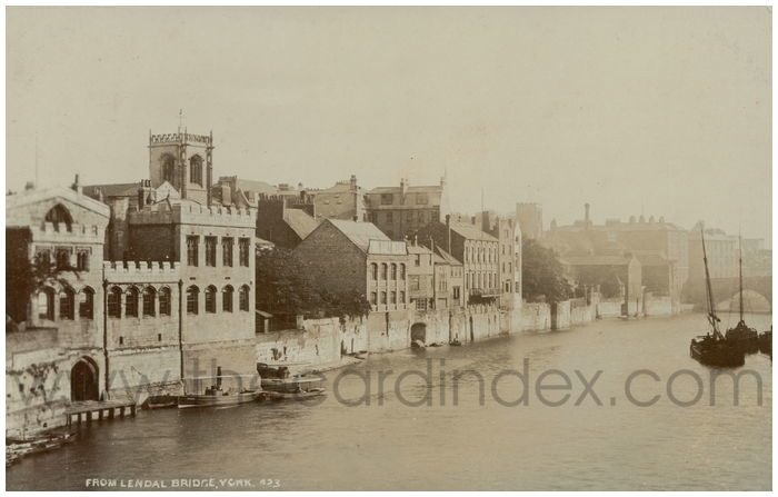 Postcard front: From Lendal Bridge York