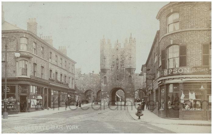 Postcard front: Micklegate Bar York