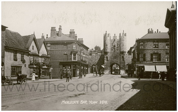 Postcard front: Micklegate Bar, York