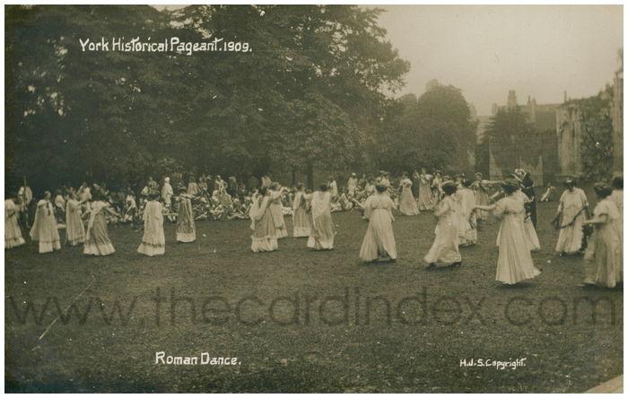 Postcard front: Roman Dancers